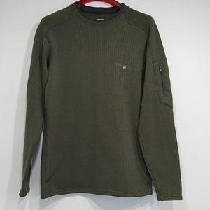 Columbia grt cozy sweater olive green men sZ XL